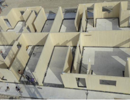 costruzione edificio x-lam