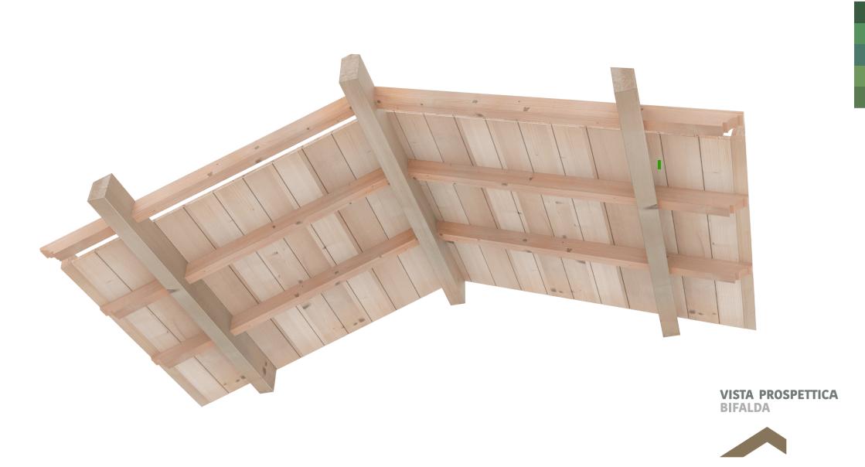Tetto in legno in kit