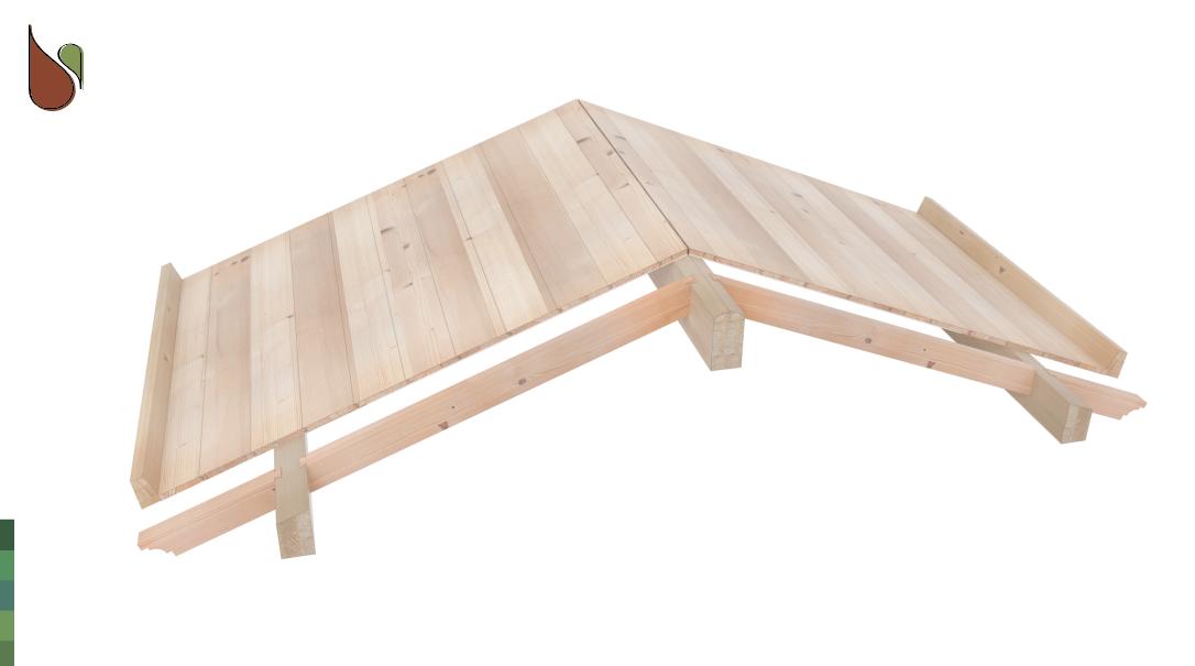 vista prospettiche 3d tetto in legno in kit bifalda